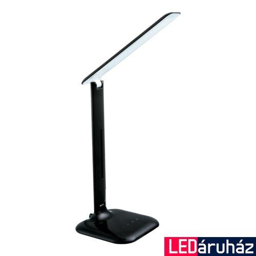 EGLO 93966 CAUPO asztali lámpa, kapcsolóval, fekete, 280 lm, 3000K-6500K szabályozható, beépített LED, 2,9W, IP20