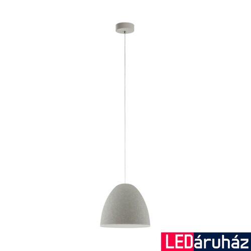 EGLO 94353 SARABIA Szürke függeszték, E27 foglalattal, 27,5cm átmérő, 110cm, 60W + ajándék LED fényforrás