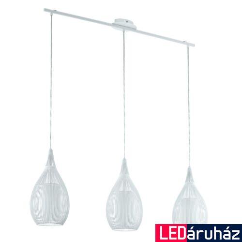 EGLO 94388 RAZONI több ágú függeszték, fehér, E27 foglalattal, max. 3x60W, IP20 + ajándék LED fényforrás