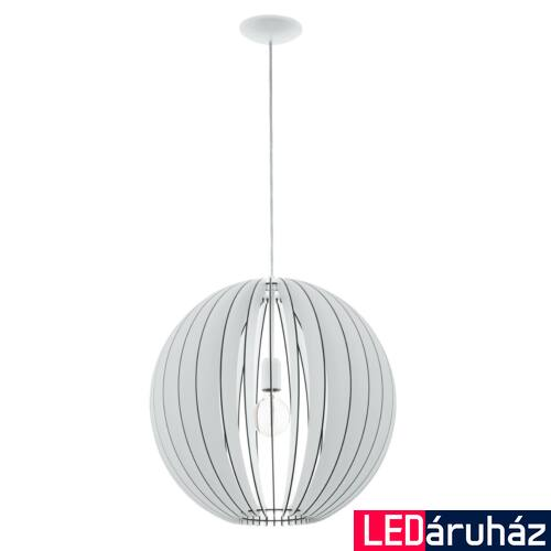 EGLO 94439 COSSANO 1 ágú függeszték, fehér, E27 foglalattal, IP20 + ajándék LED fényforrás