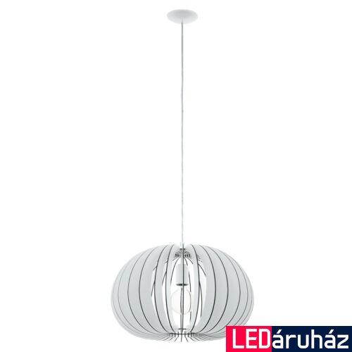 EGLO 94442 COSSANO 1 ágú függeszték, fehér, E27 foglalattal, IP20 + ajándék LED fényforrás