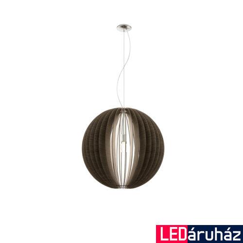 EGLO 94637 COSSANO Fa függesztett lámpa, 70cm, barna, E27 foglalattal + ajándék LED fényforrás