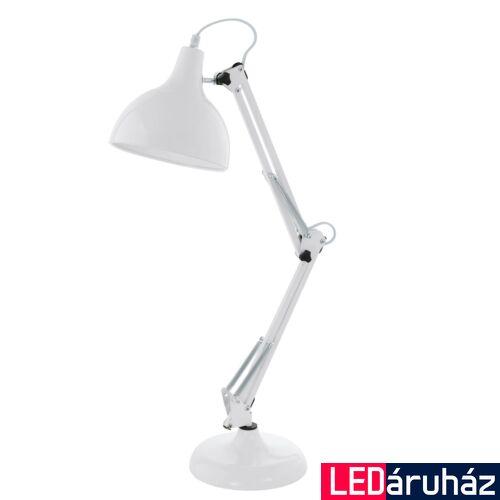 EGLO 94699 BORGILLIO Fehér asztali lámpa, 19x71cm, E27 foglalattal + ajándék LED fényforrás