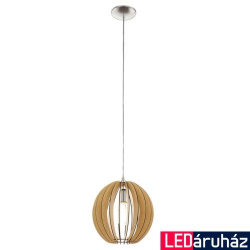 EGLO 94764 COSSANO 1 ágú függeszték, fa, E27 foglalattal, IP20 + ajándék LED fényforrás