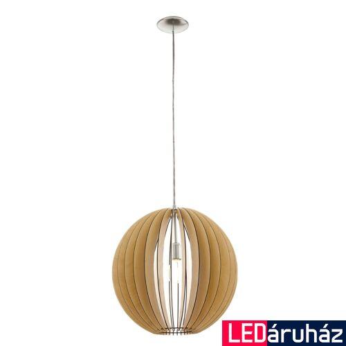 EGLO 94765 COSSANO 1 ágú függeszték, fa, E27 foglalattal, IP20 + ajándék LED fényforrás