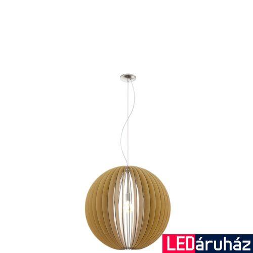 EGLO 94766 COSSANO 1 ágú függeszték, fa, E27 foglalattal, IP20 + ajándék LED fényforrás