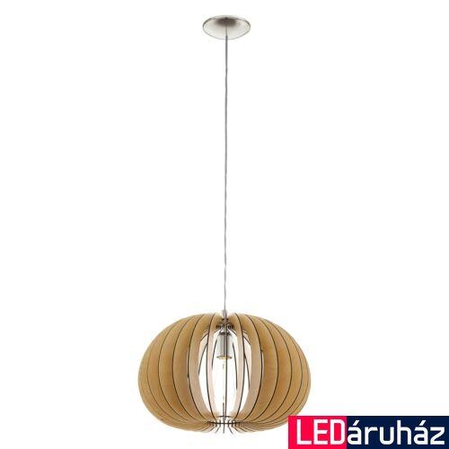 EGLO 94767 COSSANO 1 ágú függeszték, fa, E27 foglalattal, IP20 + ajándék LED fényforrás