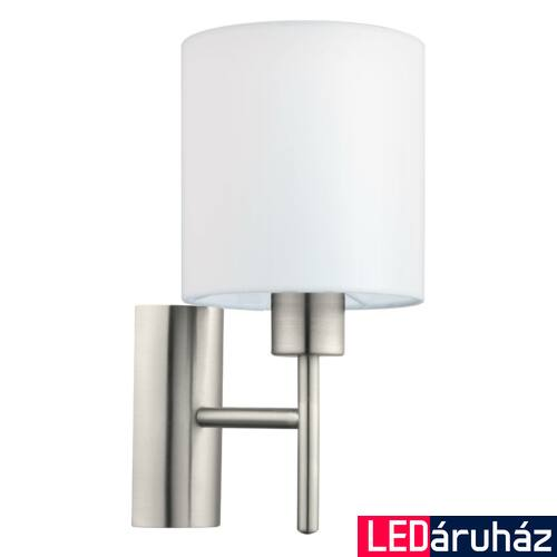 EGLO 94924 PASTERI fali lámpa, kapcsolóval, fehér, E27 foglalattal, IP20 + ajándék LED fényforrás