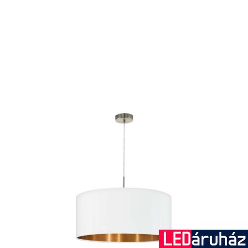 EGLO 95045 PASTERI 1 ágú függeszték, fehér, E27 foglalattal, IP20 + ajándék LED fényforrás