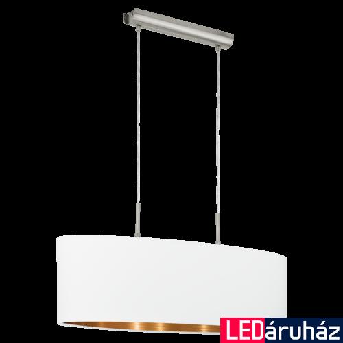 EGLO 95046 PASTERI Textil függeszték, 75cm, fehér/réz, 2 db. E27 foglalattal + ajándék LED fényforrás