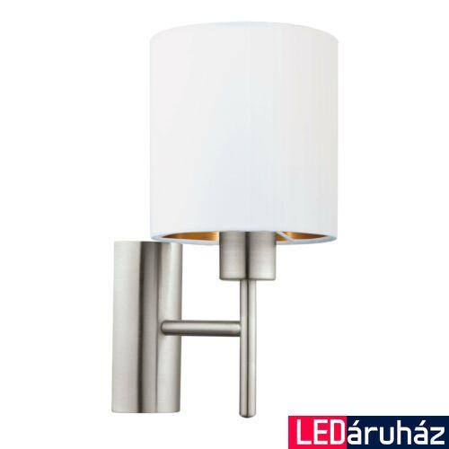 EGLO 95053 PASTERI fali lámpa, kapcsolóval, fehér, E27 foglalattal, IP20 + ajándék LED fényforrás