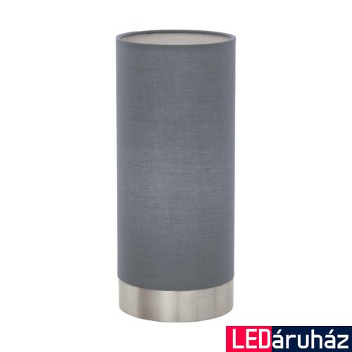 EGLO 95119 PASTERI asztali lámpa, kapcsolóval, szürke, E27 foglalattal, IP20