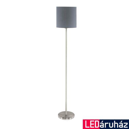EGLO 95166 PASTERI állólámpa, kapcsolóval, szürke, E27 foglalattal, IP20 + ajándék LED fényforrás