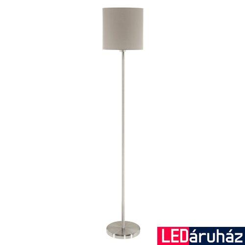 EGLO 95167 PASTERI állólámpa, kapcsolóval, szürke, E27 foglalattal, max. 1x60W, IP20 + ajándék LED fényforrás
