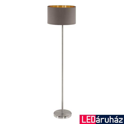 EGLO 95172 MASERLO Textil állólámpa, 38cm, cappucino, E27 foglalattal + ajándék LED fényforrás