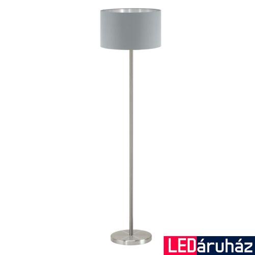 EGLO 95173 MASERLO Textil állólámpa, 38cm, szürke, E27 foglalattal + ajándék LED fényforrás
