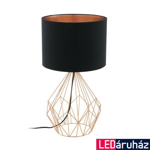 EGLO 95185 PEDREGAL 1 Asztali lámpa, fekete/réz, 35cm átmérő, E27 foglalat + ajándék LED fényforrás