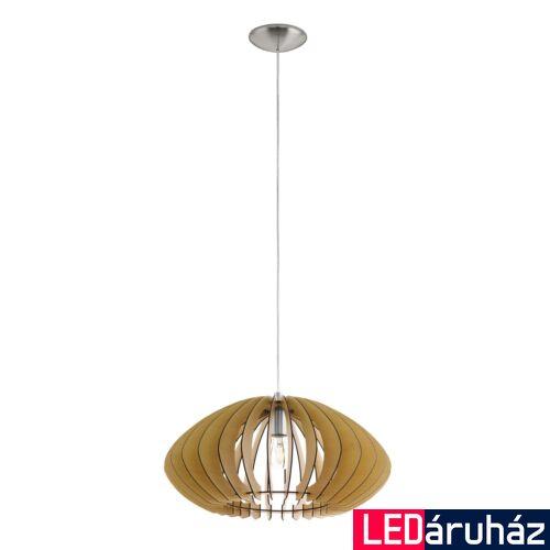 EGLO 95257 COSSANO 2 1 ágú függeszték, fa, E27 foglalattal, IP20 + ajándék LED fényforrás