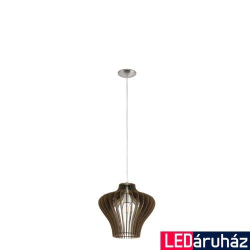 EGLO 95259 COSSANO 2 1 ágú függeszték, barna, E27 foglalattal, IP20 + ajándék LED fényforrás