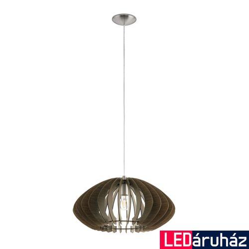 EGLO 95261 COSSANO 2 Fa függesztett lámpa, 50cm, sötétbarna, E27 foglalattal + ajándék LED fényforrás