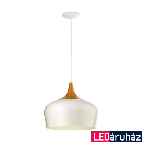 EGLO 95383 OBREGON 1 ágú függeszték, fehér, E27 foglalattal, IP20 + ajándék LED fényforrás