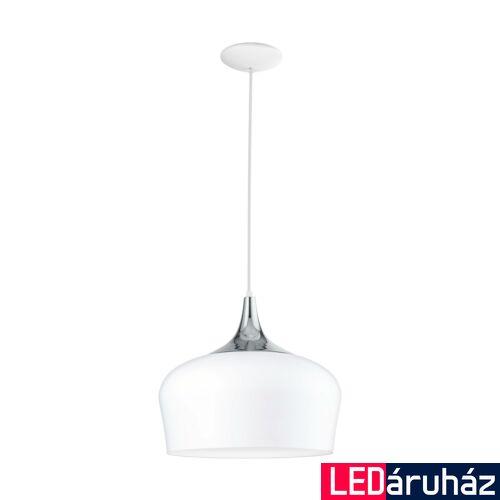 EGLO 95384 OBREGON Fehér/króm függeszték, E27 foglalattal, 35cm átmérő, 110cm, 1x60W + ajándék LED fényforrás