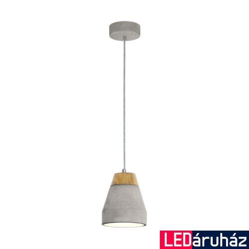 EGLO 95525 TAREGA Barna-szürke beton függeszték, 15cm átmérő, E27 foglalat + ajándék LED fényforrás