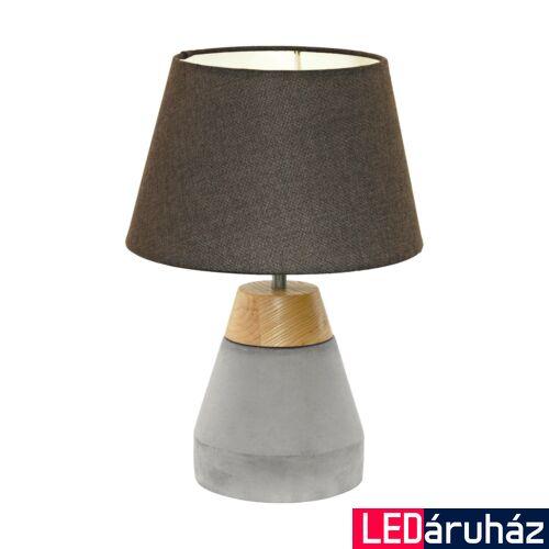 EGLO 95527 TAREGA Barna-szürke beton asztali lámpa, 25cm átmérő, 37cm magasság, E27 foglalat + ajándék LED fényforrás