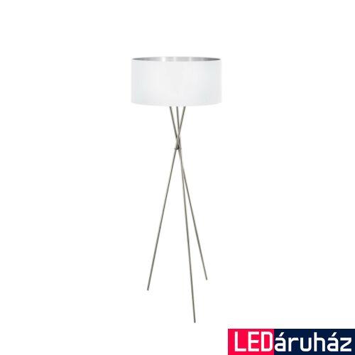 EGLO 95539 FONDACHELLI Állólámpa, textil fehér búrával, 151,5cm, E27 foglalat + ajándék LED fényforrás
