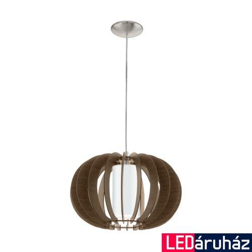 EGLO 95591 STELLATO 3 1 ágú függeszték, barna, E27 foglalattal, IP20 + ajándék LED fényforrás