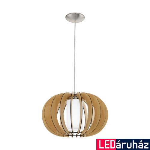 EGLO 95598 STELLATO 1 1 ágú függeszték, fa, E27 foglalattal, IP20 + ajándék LED fényforrás