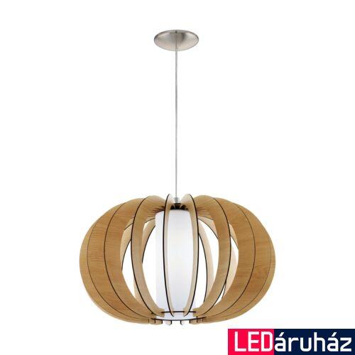 EGLO 95599 STELLATO 1 Fa függesztett lámpa, 50cm, juhar, E27 foglalattal + ajándék LED fényforrás