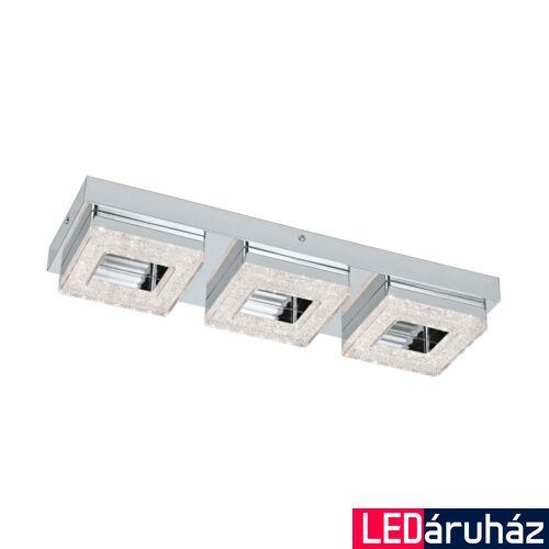 EGLO 95656 FRADELO fali/mennyezeti lámpa, króm, 1200 lm, 3000K melegfehér, beépített LED, 3x4W, IP20