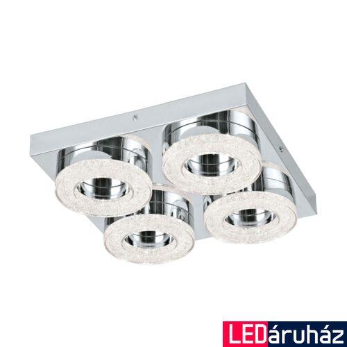 EGLO 95664 FRADELO fali/mennyezeti lámpa, króm, 1600 lm, 3000K melegfehér, beépített LED, 4x4W, IP20