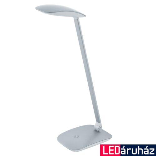 EGLO 95694 CAJERO asztali lámpa, kapcsolóval, ezüst, 550 lm, 4000K természetes fehér, beépített LED, 4,5W, IP20