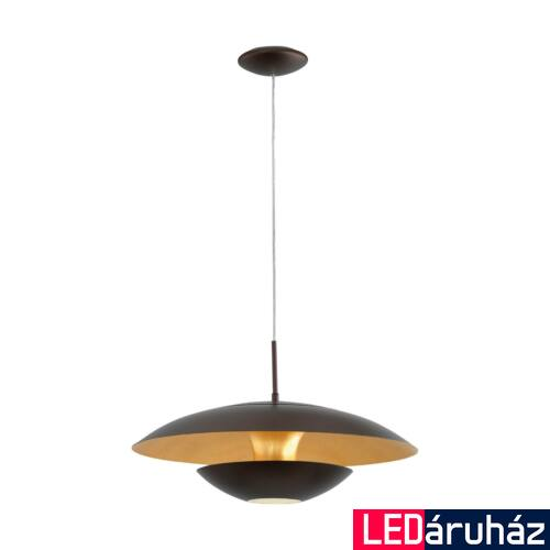 EGLO 95755 NUVANO Barna/arany függeszték, E27 foglalattal, 48cm átmérő, 110cm, 60W + ajándék LED fényforrás