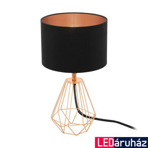 EGLO 95787 CARLTON 2 asztali lámpa, kapcsolóval, fekete, E14 foglalattal, max. 1x60W, IP20
