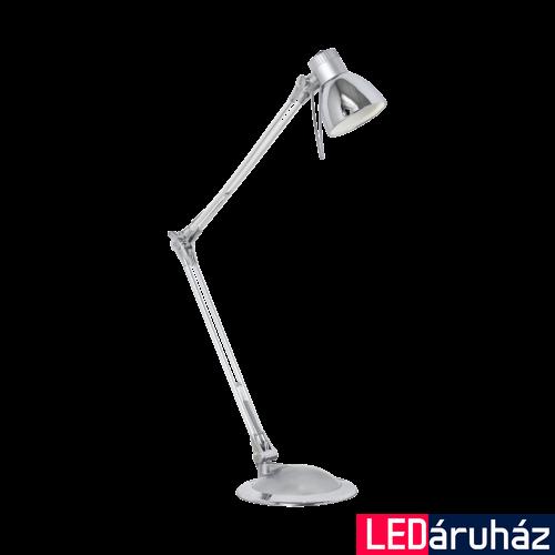 EGLO 95829 PLANO LED Króm asztali LED lámpa, 19x82cm, GU10, 3,3W, 3000K melegfehér, 240lm