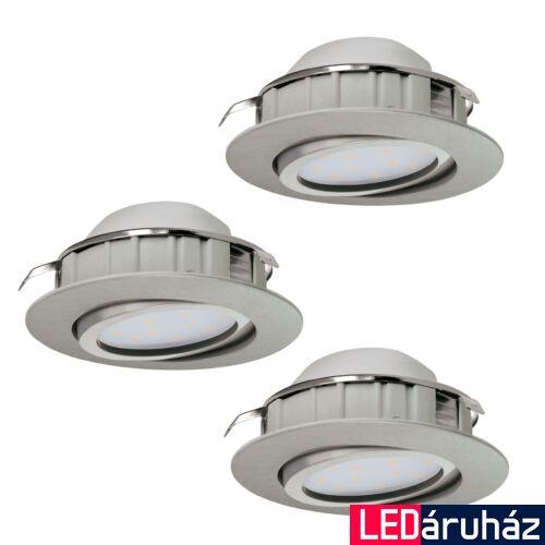 EGLO 95859 PINEDA beépíthető lámpa, nikkel, 3X500 lm, 3000K melegfehér, beépített LED, 3x6W, IP20