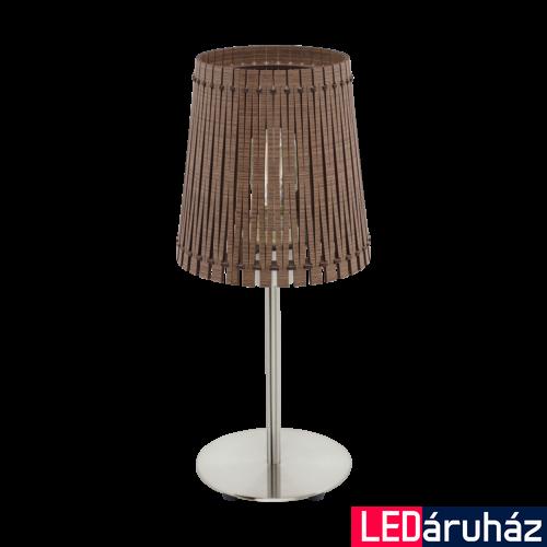 EGLO 96203 SENDERO Fa asztali lámpa, 18cm, sötétbarna, E27 foglalattal