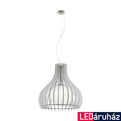 EGLO 96211 TINDORI 1 ágú függeszték, fehér, E27 foglalattal, IP20 + ajándék LED fényforrás