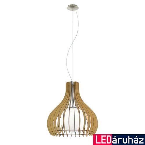 EGLO 96214 TINDORI 1 ágú függeszték, fa, E27 foglalattal, IP20 + ajándék LED fényforrás