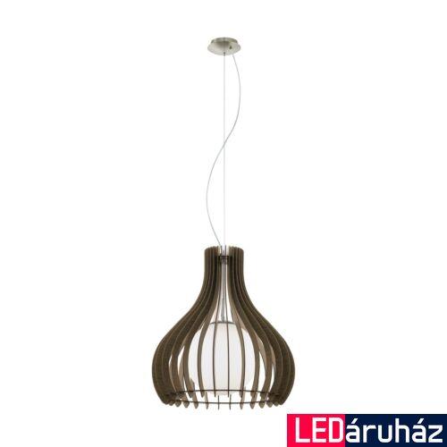 EGLO 96217 TINDORI 1 ágú függeszték, barna, E27 foglalattal, IP20 + ajándék LED fényforrás