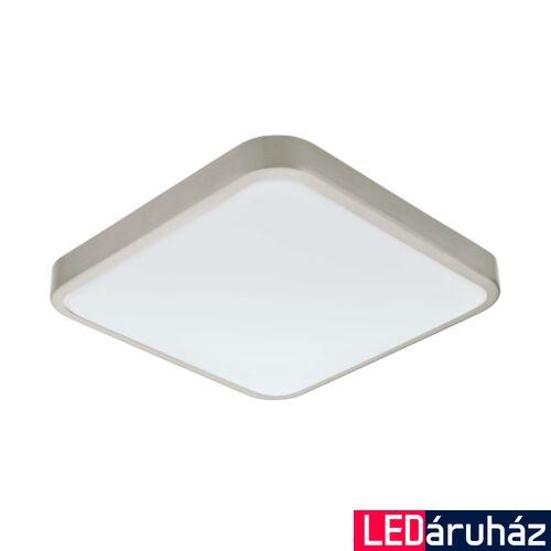 EGLO 96231 MANILVA 1 fürdőszobai fali/mennyezeti lámpa, nikkel, 1500 lm, 3000K melegfehér, beépített LED, 16W, IP44