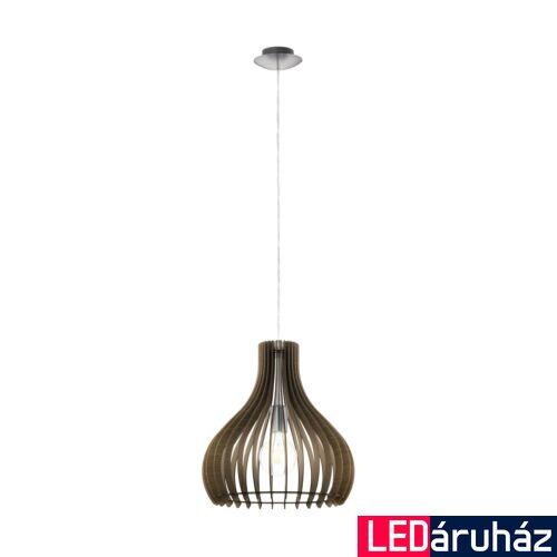 EGLO 96259 TINDORI 1 ágú függeszték, barna, E27 foglalattal, IP20 + ajándék LED fényforrás