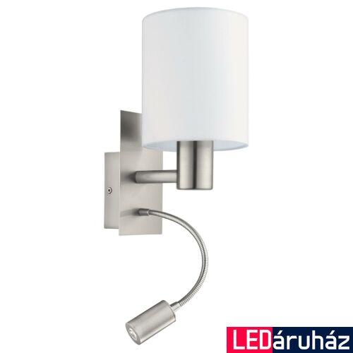 EGLO 96477 PASTERI fali lámpa, kapcsolóval, fehér, -;380 lm, 3000K melegfehér, E27+LED foglalattal, IP20