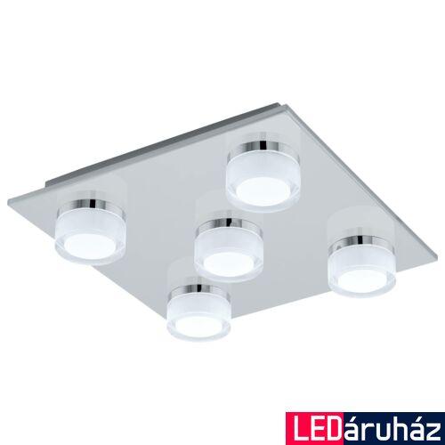 EGLO 96544 ROMENDO 1 fürdőszobai mennyezeti lámpa, króm, 5X7,2W, 2850 lm, 3000K melegfehér, beépített LED, IP44