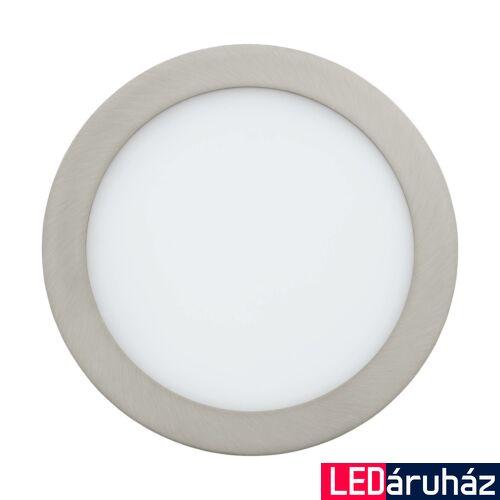 EGLO 96676 FUEVA-C Connect smart süllyesztett LED panel, RGBW, 22,5cm átmérő, kör, matt nikkel, 16W, 2000lm