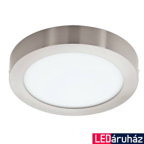 EGLO 96677 FUEVA-C LED panel, nikkel, 15,6W, 2000 lm, 2700K-6500K szabályozható, fényerő szabályozható, beépített LED, IP20 + ajándék LED reflektor