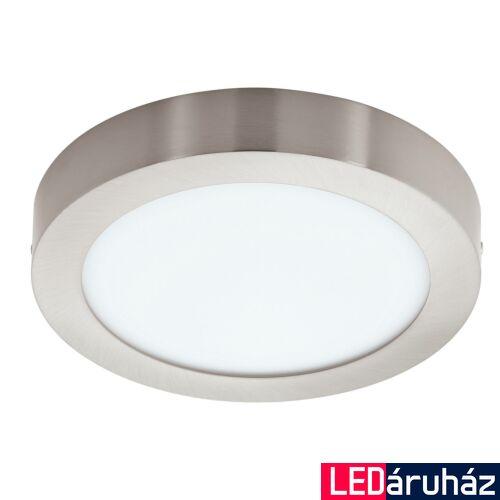 EGLO 96677 FUEVA-C LED panel, nikkel, 15,6W, 2000 lm, 2700K-6500K szabályozható, fényerő szabályozható, beépített LED, IP20, 225mm átmérő